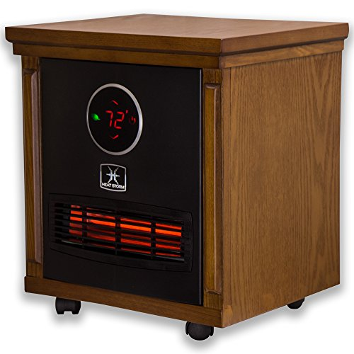 Heat Storm HS 1500 SISM Indoor Portable Infrared Space Heater – 1500 Watt – Stylish – Built in Thermostat & Overheat Sensor – Remote Control – Perfect For Any Room