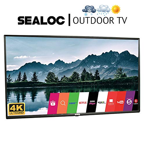 Outdoor TV 55″ Fully Weatherproof Ultra HD 4K Smart All Weather LED Television – by Sealoc