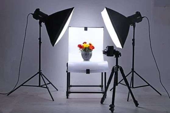 Always make sure you are focused on good lighting in a photography studio